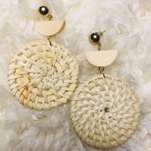 Wick dangling earrings